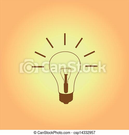 licht, idee, bol - csp14332957