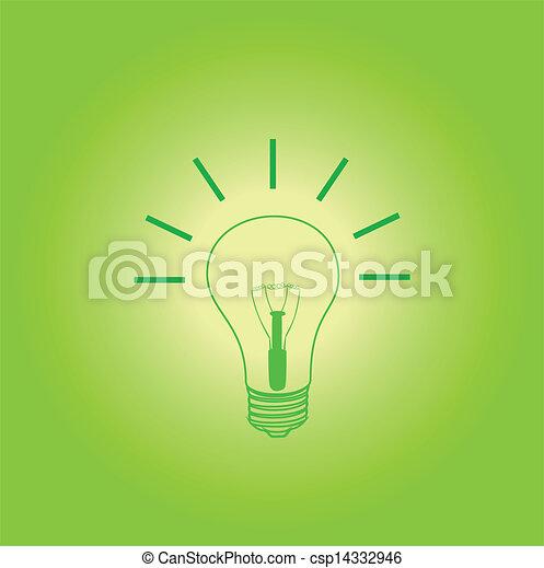 licht, idee, bol - csp14332946