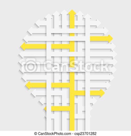 licht, idee, bol - csp23701282