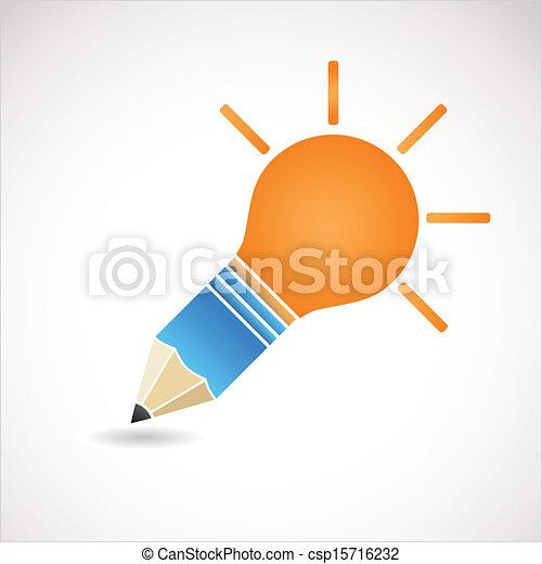 licht, idee, bol - csp15716232