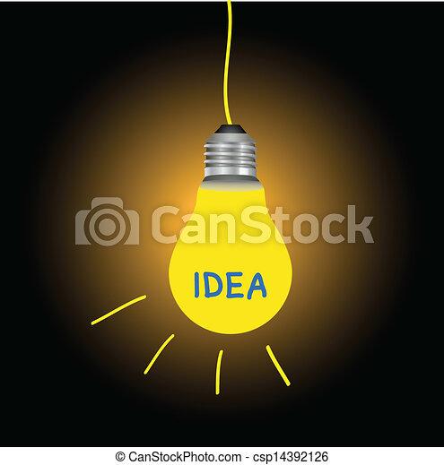 licht, idee, bol - csp14392126