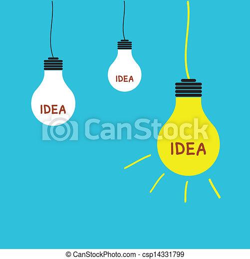 licht, idee, bol - csp14331799