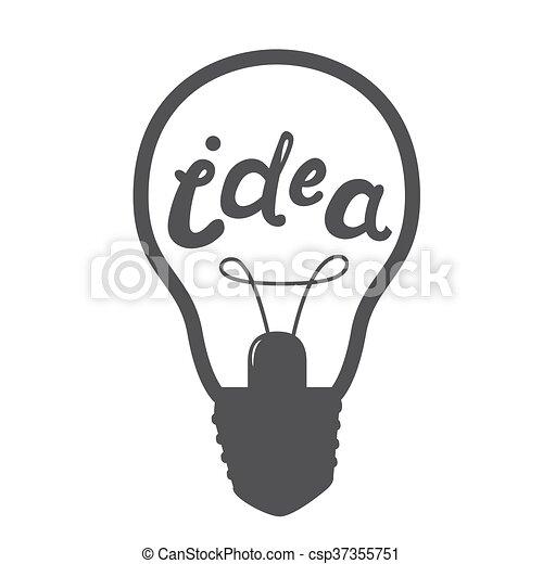 Licht, idee, zeichen, lampe, icon., symbol. Idee, licht,... Clipart ...
