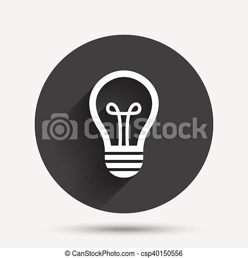 Licht, idee, zeichen, lampe, icon., symbol. Wohnung, licht ...