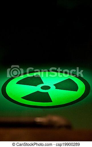 Licht, radium, grün, symbol, boden. Gemalt, dieser,... Bilder ...