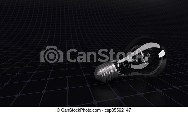 licht, rasterhintergrund, zwiebel - csp35592147