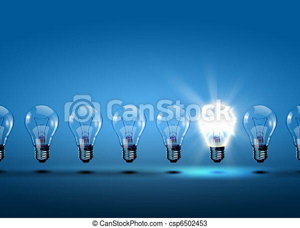 Eine Reihe von Glühbirnen - csp6502453