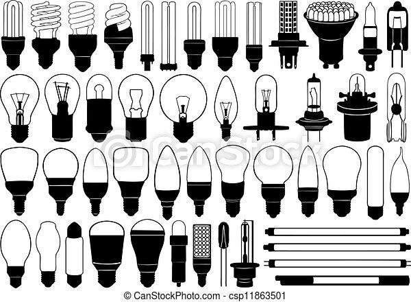 licht, satz, birnen - csp11863501