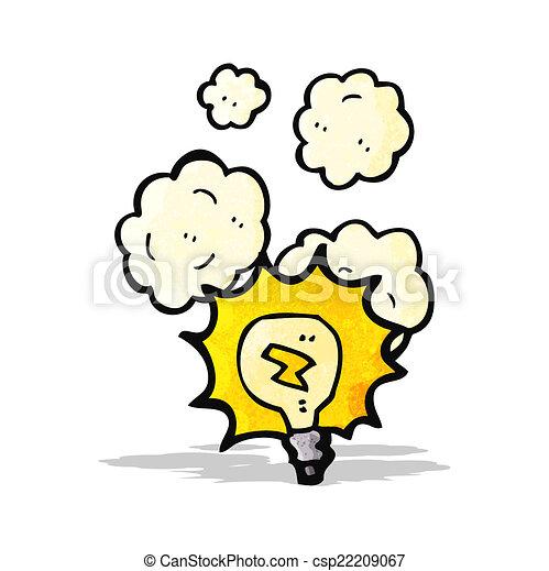 licht, spotprent, bol - csp22209067