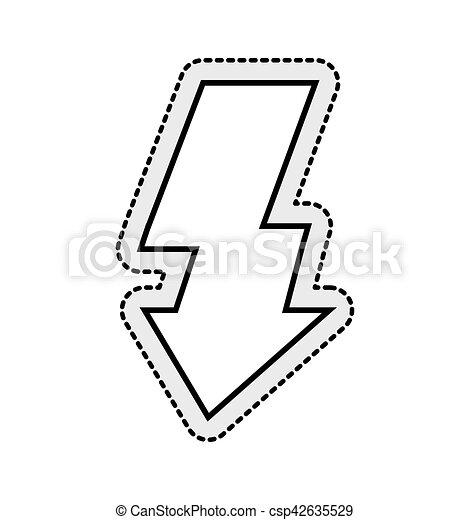 Licht, symbol, blitz, freigestellt, foto, ikone. Licht,... Vektor ...