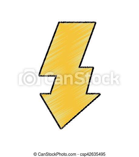 Licht, symbol, blitz, freigestellt, foto, ikone. Licht,... EPS ...