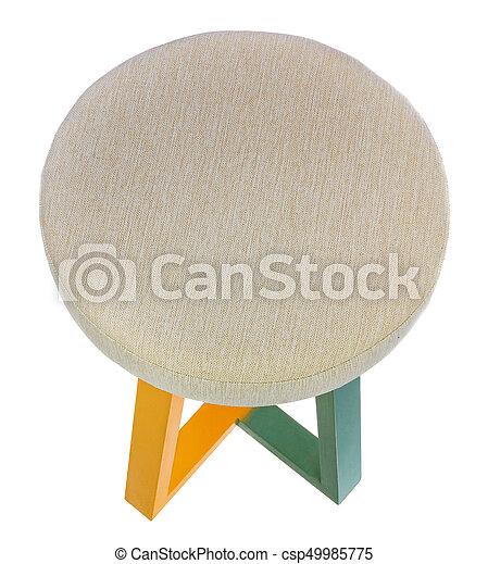 Licht Yellow Handgemacht Stool Grün Gelber Stuhl Gemacht