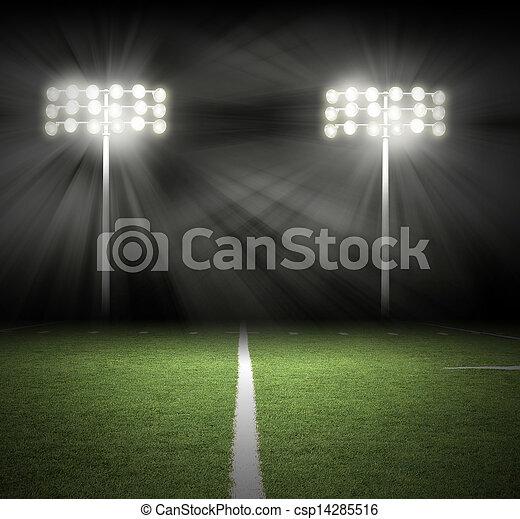 lichten, spel, black , stadion, nacht - csp14285516