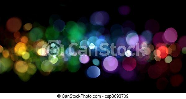 lichter, abstrakt - csp3693709