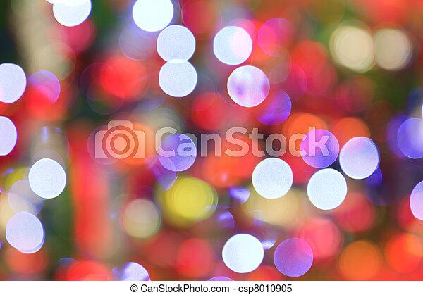 lichter, baum, fokus, hintergrund., weihnachten, heraus - csp8010905