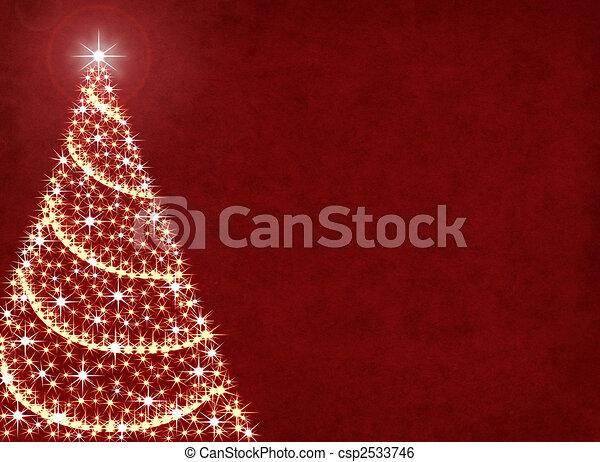 lichter, baum, weihnachten - csp2533746