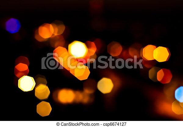 lichter, fokus, heraus - csp6674127