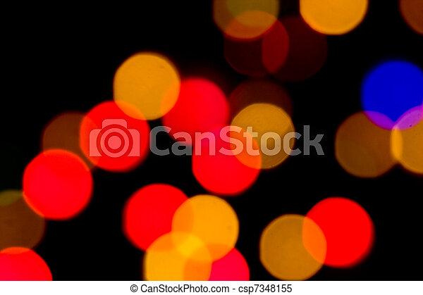 lichter, fokus, heraus - csp7348155