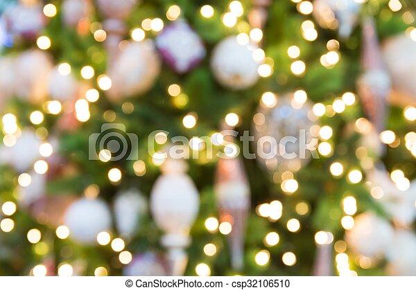 lichter, fokus, hintergrund, weihnachten - csp32106510