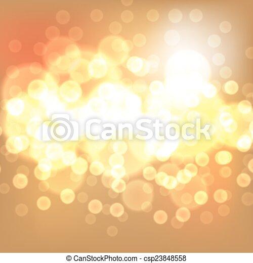 lichter, gold, weihnachten, hintergrund - csp23848558