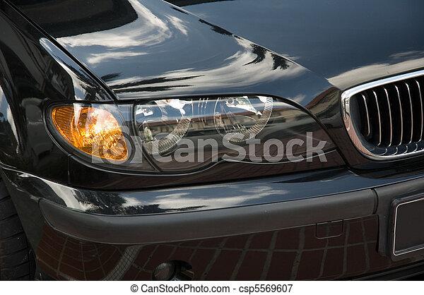 lichter, kopf, auto - csp5569607