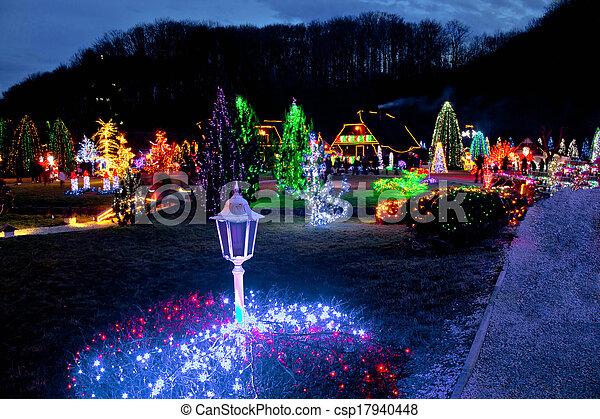 Weihnachten In Kroatien.Lichter Weihnachten Bunte Dorf