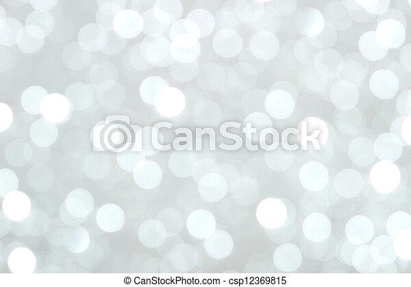 Weihnachtsbeleuchtung im Hintergrund - csp12369815