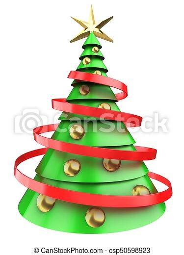 Lichtgroen Kerstboom 3d Gouden Gelul Licht Op Boompje