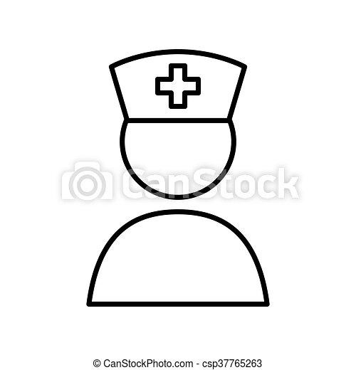 lid, medisch, vector, personeel - csp37765263