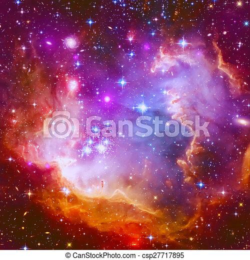 lidelsefull, stjärna, nebulosa - csp27717895