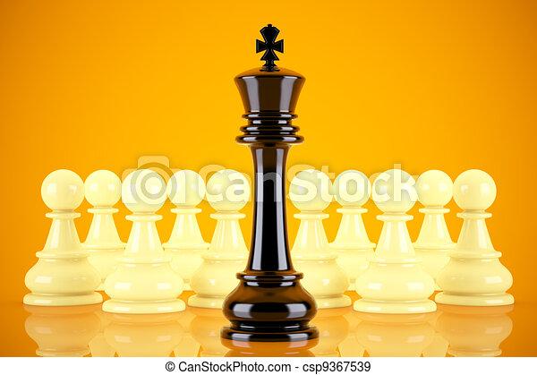 Concepto de liderazgo - csp9367539