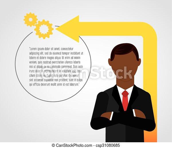 Liderazgo de negocios - csp31080685