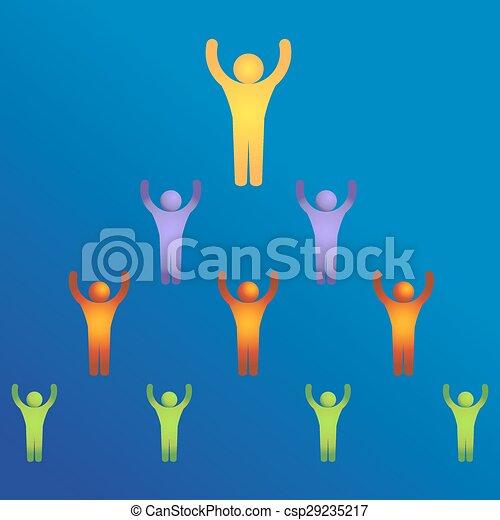 Icono de liderazgo de negocios - csp29235217