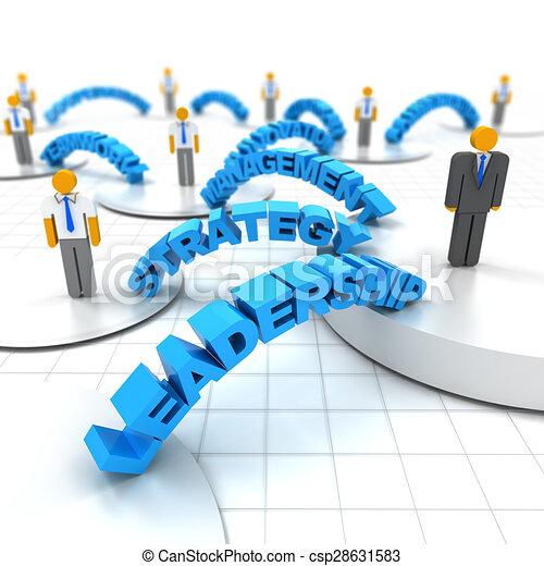 Liderazgo de negocios - csp28631583