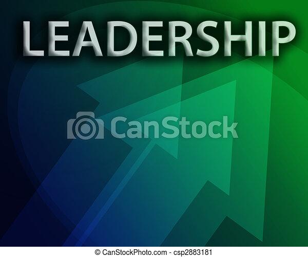 Ilustración de liderazgo - csp2883181