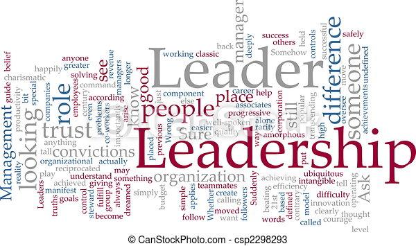 Nube de palabra de liderazgo - csp2298293