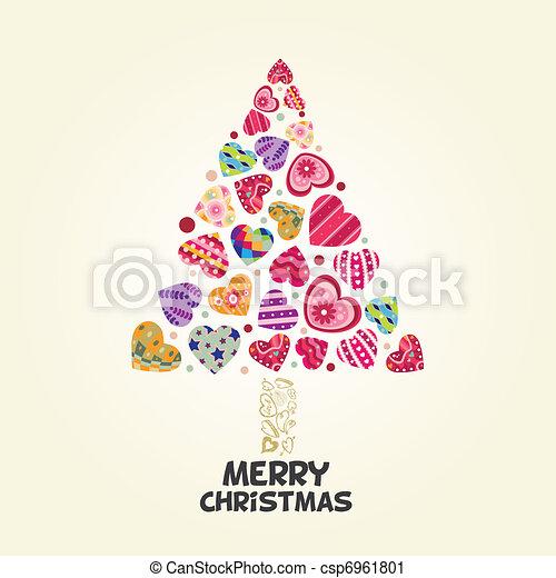 liebe, baum, weihnachten, herz - csp6961801