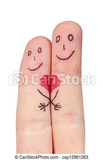 Verliebte Finger - csp12961263