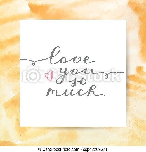 Ich liebe dich so sehr - csp42269671