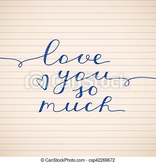 Ich liebe dich so sehr - csp42269672