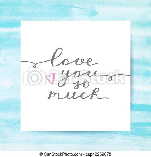 liebe, sie, viel, so - csp42269678