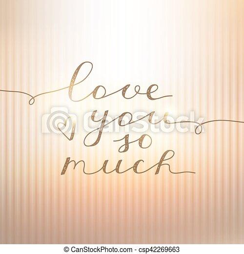 liebe, sie, viel, so - csp42269663