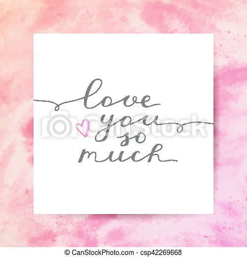 Ich liebe dich so sehr - csp42269668
