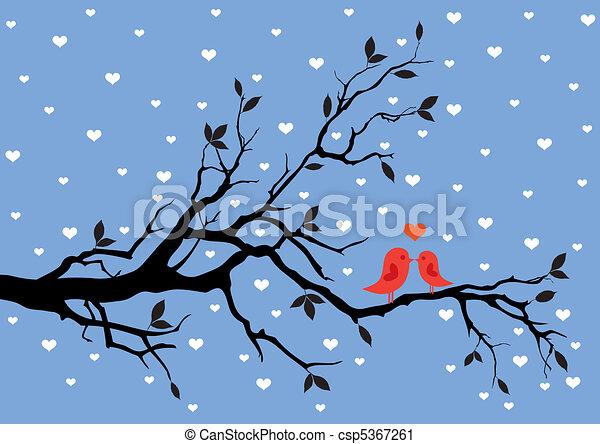 liebe, winter - csp5367261