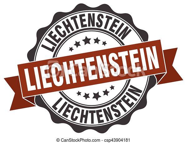 liechtenstein , στρογγυλός , ταινία , σφραγίζω  - csp43904181