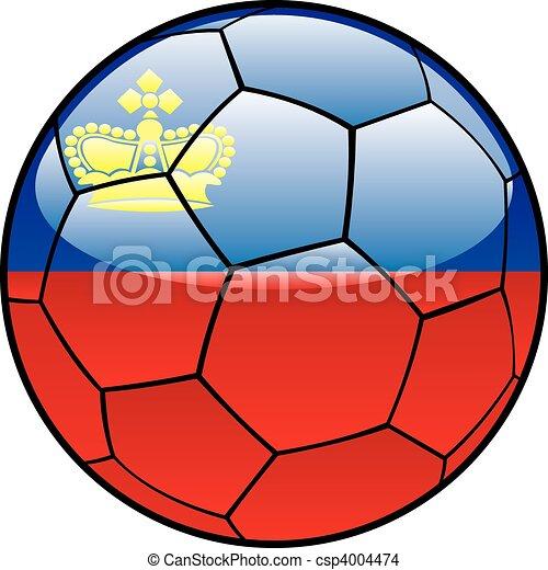 Liechtenstein flag on soccer ball - csp4004474