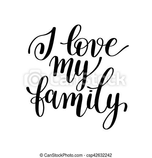 liefde, gezin, positief, noteren, kalligrafie, mijn, jouw, met de hand geschreven - csp42632242