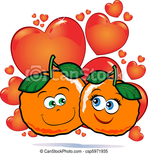 liefde, sinaasappel - csp5971935