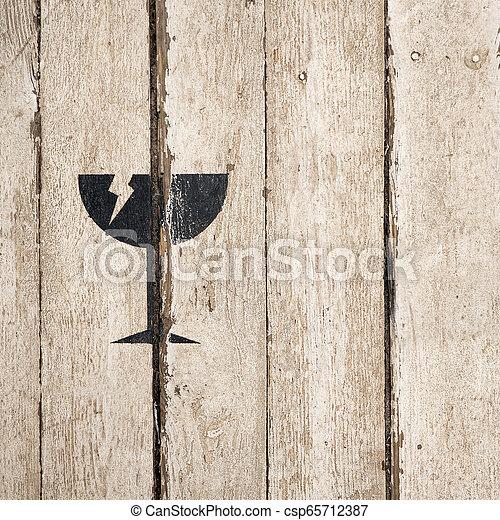 Beförderung, Beförderungszeichen und Symbole. Lieferservice. Bar, Pflege, Nachtclub. Vintage, Country-Stil. Versandbedingungen. - csp65712387