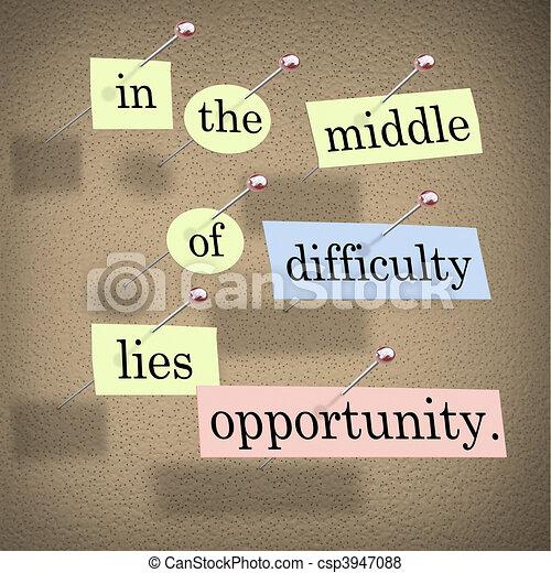 lies, schwierigkeit, gelegenheit, mitte - csp3947088